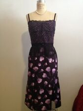 Nina Ricci Fall 2012 Purple Pink Floral Silk & Wool Blend Dress Sz 36 NWT