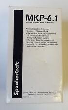 Speakercraft Master Teclado De Control Remoto Sistema con receptor IR MKP-6.1