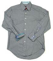 Robert Graham X Series Long Sleeve Button Down Men's Shirt SZ Medium Flip Cuff