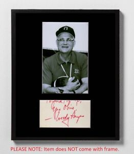 Woody Hayes Matted Autograph & Photo! Ohio State Buckeyes Legend! Football! OSU!