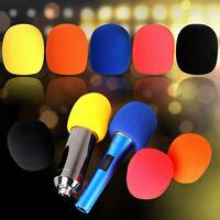 GI- Microphone Headset Grill Windscreen Sponge Foam Black Mic Cover