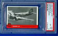 1956 56 TOPPS JETS PSA GRADED SPOTTER SERIES #20 FOKKER S.13