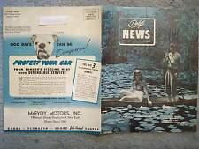1947 DODGE NEWS VOLUME 12 NUMBER 5 BROCHURE MAGAZIN SARATOGA PLANE CRASH