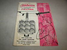 Sunbeam Controlled Even Heat Automatic Frypan User's Manual & Recipes (1961)