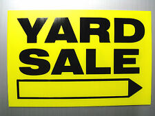 """Yard Sale "" Signs 3 Sign Set 12""X18"" With Wire Stakes"