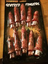 10 NEW HALLOWEEN HORROR CHOP SHOP BLOODY SEVERED FINGERS GHOST SCARY GHOULS KIDS