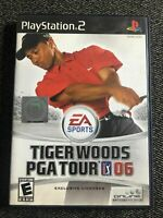 TIGER WOODS PGA TOUR 06 - PS2 - COMPLETE W/MANUAL - FREE S/H -(PP)