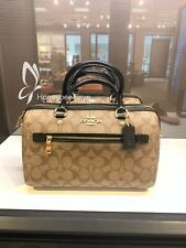 NWT Coach F83607 Signature Rowan Satchel Handbag Crossbody $328