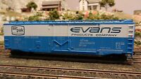 Athearn HO BB 50' Plug Door Boxcar, Evans Products, Upgraded, Exc.