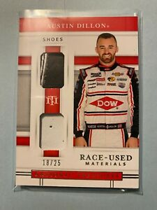 A23,281 - 2020 National Treasures Dual Race Used Shoes #12 Austin Dillon/25