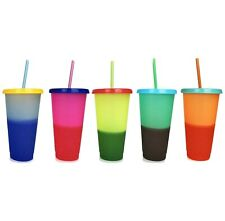 Set Of 5 Color Changing Cold Tumblers/Cups