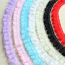1/10 Yards Polyester Crochet Edge Lace Trim Ribbon Applique DIY Sewing Craft