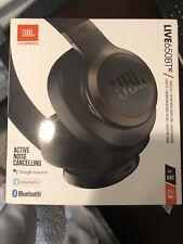 Brand New JBL LIVE 650BTNC Wireless Over-Ear Noise-Canceling Headphones - Black