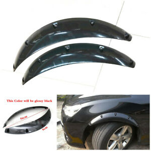 2x Glossy Black ABS Wide Body Kits Car Fender Flares Set Wheel Arches Extensions
