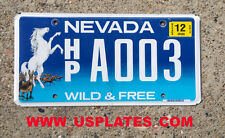 REAL NEVADA STATE LICENSE PLATE WILD HORSE HP GRAPHIC AUTO NUMBER CAR TAG NV 1