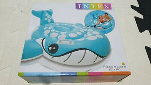 Inflatable 2013 Intex Bashful Blue Whale Ride on Pool Toy New In Box