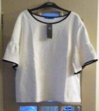 IVORY & BLACK TOP FROM MARKS & SPENCER - SIZE 14 - BNWT