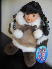 "Alaskan Friends Genuine Native Style Princess 9"" 02275 Eskimo Doll Girl"