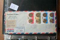 UAE AJMAN  COVER 1968 OLYMPIC GAMES MEXICO RARE (ROS7082