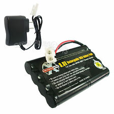 9.6V 1000mAh NiCd Rechargeable Battery Pack Tamiya Connector + Charger US Stock