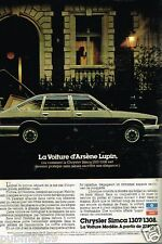 Publicité advertising 1978 Chrysler Simca 1307/1308 Arsène Lupin