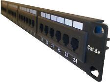 Cat5E Cat 5E RJ45 Patch Panel Rack Mountable 24 port