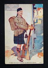 WW1 Postcard Gay Officers Lieutenant Davidson Bay Hotel Cullercoats