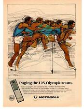 "1976 Motorla Pagers ""Paging The U.S. Olympic Team."" Track 2-Way Radios Print Ad"