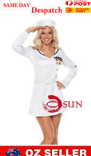 Women Sexy White Navy Sailor Costume Solider Fance Dress up Halloween Size 8-10