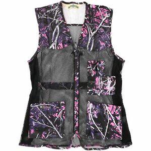 Bob Allen Ladies M/L Mesh Muddy Girl Pink Camo Trap Shooting Vest 10056 Loc#EB75