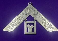 Sterling silver masonic square Corinthian Lodge  April 1892
