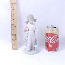 "Lladro ""Spring"" Retired Figurine #5217 Girl w/ Spring Flowers & Bird"