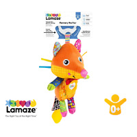LAMAZE Flannery the Fox Baby Toy Clip On Baby Pram Toy with Baby Teether