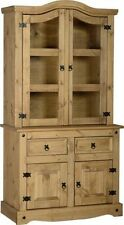 Seconique CORONA Distressed Mexican Pine 3ft Buffet Hutch