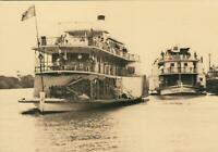 PADDLE STEAMERS GEM & MARION on MURRAY RIVER POSTCARD - UNUSED - EXCELLENT