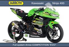 LIGNE COMPLETE ARROW COMPETITION EVO TITANE KAWASAKI NINJA 400 2018 - 71189CKR