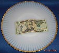"ANTIQUE 1930's Macbeth-Evans Monax Petalware 10 5/8"" Plate, Salver Gold Trim VGC"