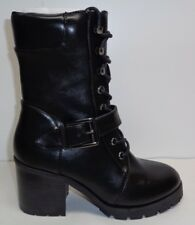 Buffalo Shoes Size 8 Eur 38 B163A-72 Black Lace Ankle Boots New Womens Shoes