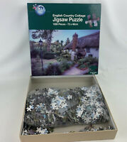 Puzzle world English country cottage 1000 piece jigsaw puzzle 73 x 48cm good