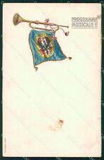 Militari 81º Reggimento Fanteria Torino Programma Musica cartolina XF5536