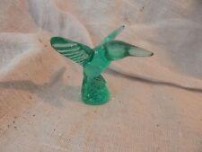 "Vintage Green / Teal Murano Glass Hummingbird Crea Milano 2.5"""