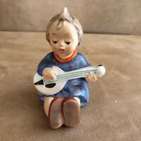 Hummel Goebel #53 Joyful lute vintage girl figurine playing musical angel