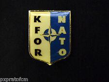 Spilla Distintivo KFOR Kosovo Force NATO Missione di Pace Operazione Militare