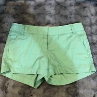 J.Crew CHINO Broken-In Women's Green Cotton Casual Shorts Size 4