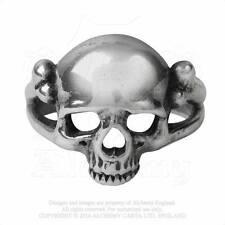 Alchemy Gothic Ring - Skull Head Pewter Skeleton Memoria Mortalis Jewellery R208 Y