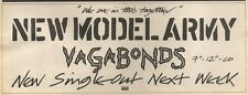 25/2/89Pgn19 Advert: New Model Army 'vagabonds' New Single Emi Records 4x11
