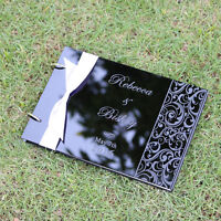 Personalized Engraved Names Acrylic Wedding guest book album,Valentine gift