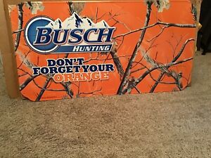 Busch Hunting  domt forget your orange beer sign tin sign