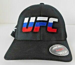 UFC Russia Black Flex Fit Embroidered Hat - Small/Medium - NWT - Khabib