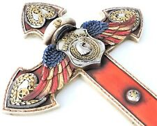 Marine Cross Angel Wings Military USMC Patriotic 14x8 1/2 inch Wall Hanging New